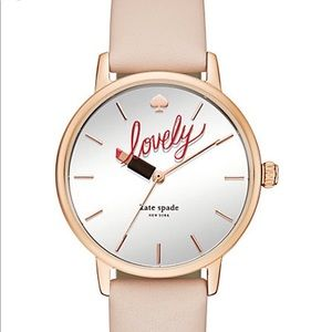 Kate Spade Metro Lovely Leather Ladies Watch